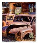 Rusty Cars  Fleece Blanket