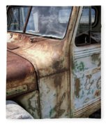 Rusty Classic Willy's Jeep Pickup Fleece Blanket