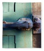 Rusty Door Latch Fleece Blanket