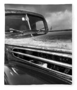 Rusty Ford 1942 Black And White Fleece Blanket