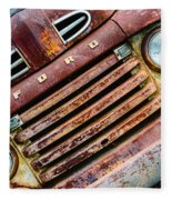 Rusty Ford Grill Fleece Blanket