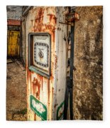 Rusty Gas Pump Fleece Blanket