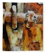 Rusty Gate Fleece Blanket