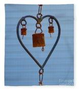 Rusty Heart 1 Fleece Blanket
