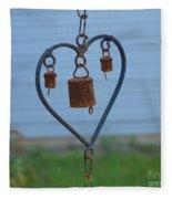 Rusty Heart 2 Fleece Blanket