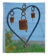 Rusty Heart 4 Fleece Blanket