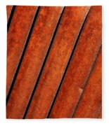 Rusty Hood Louvers Fleece Blanket