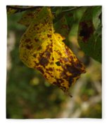 Rusty Leaf Fleece Blanket