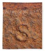 Rusty Letters Usa Fleece Blanket