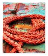Rusty Old Ship Fleece Blanket