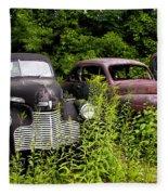 Rusty Old Transportation Fleece Blanket