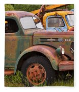 Rusty Old Trucks Fleece Blanket