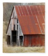 Rusty Ole Barn Fleece Blanket