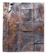 Rusty Plate Door 2 Fleece Blanket
