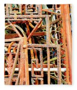 Rusty Railings Square Fleece Blanket