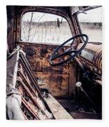Rusty Relic Truck Fleece Blanket
