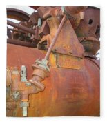 Rusty Steam Tractor Fleece Blanket