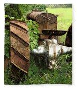 Rusty Tractor 1  Fleece Blanket