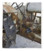 Rusty Tractor Fleece Blanket
