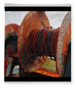 Rusty Winch  Fleece Blanket