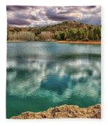 Ruta De Don Quijote. Lagunas De Ruidera Fleece Blanket