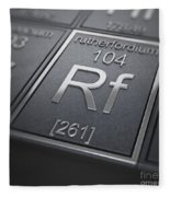 Rutherfordium Chemical Element Fleece Blanket