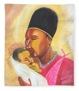 Rwandan Maternal Kiss Fleece Blanket