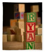 Ryan - Alphabet Blocks Fleece Blanket