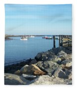 Rye Harbor  Fleece Blanket
