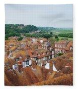 Rye Town Roofs Fleece Blanket
