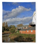 Rye Windmill Fleece Blanket