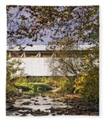 Ryot Covered Bridge And Stream Fleece Blanket