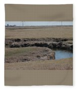 S Curve Creek Fleece Blanket