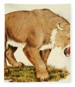 Sabretooth Cat Fleece Blanket
