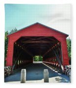 Sachs Covered Bridge 3 Fleece Blanket