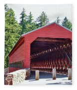 Sachs Covered Bridge 4 Fleece Blanket