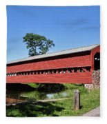 Sachs Covered Bridge Fleece Blanket