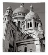 Sacre Coeur Architecture  Fleece Blanket