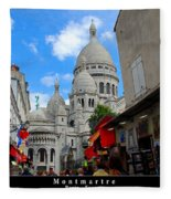 Sacre Coeur In Montmartre Fleece Blanket