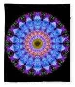 Sacred Crown - Mandala Art By Sharon Cummings Fleece Blanket