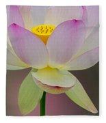 Sacred Lotus Blossom Fleece Blanket