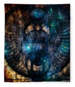 Sacred Scarab Fleece Blanket