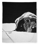 Sad Dog Fleece Blanket