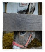 Sad Donkey Fleece Blanket