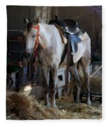 Sad Horse Fleece Blanket
