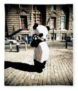 Sad Panda Fleece Blanket