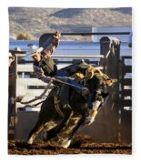 Saddle Bronc Riding Competition Fleece Blanket
