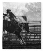 Saddle Bronc Riding Fleece Blanket