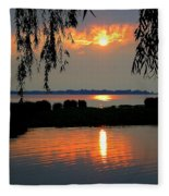Sadness At Days End Fleece Blanket