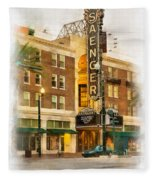 Saenger Theatre New Orleans Paint 2 Fleece Blanket